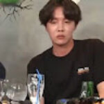 J-hope's sprite that got lost in Jungkook's hair